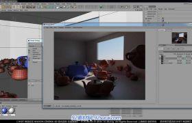 C4D中文室內建模教程23 前言介紹、AO和GI的比較視頻教程