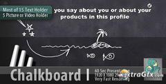 黑板粉笔涂鸦手写个人公司简介动画AE模板 Chalkboard Profile