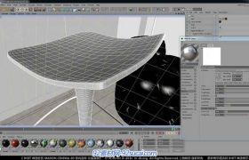 C4D中文室內建模教程26 其余材質、場景整合與最終渲染視頻教程