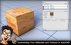在 AutoCAD中定制文理和材质视频教程 Digital Tutors – Customi