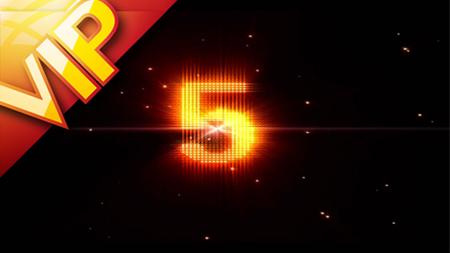 激动澎湃的金色粒子爆炸5秒倒计时背景素材(含音乐)
