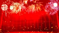 烟花焰火红色喜庆新年春节晚会通用LED舞台晚会动态背景视频素材