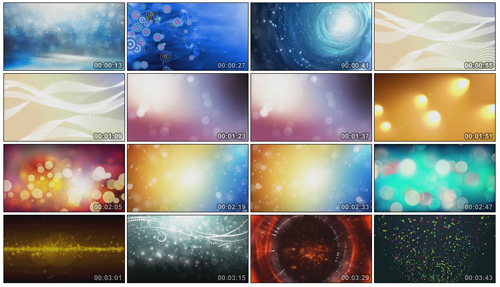 精品超炫的粒子动态视频素材20个 LED大屏幕背景视频2.5G
