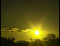 黄昏日落 天空中的晚霞光彩夜幕即将降临一组标清实拍素材