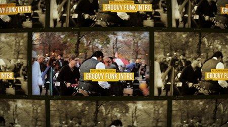 电影 风格 预告片 ae模板 Groovy Funk Intro