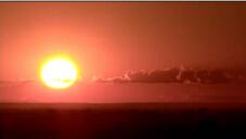 天边日出照射出漂亮的红色天边 标清实拍视频素材