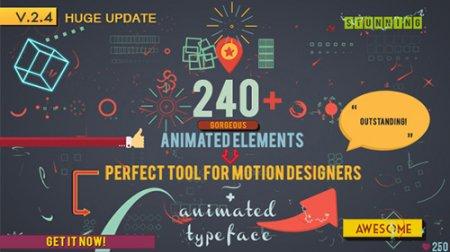240组MG动态图形Motion动画元素包AE模板 Shape Elements