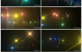 3D闪灼光斑炫彩灯光结果高清静态视频素材