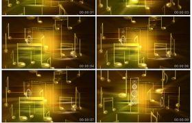 音乐音符音响转动动画背景动态视频免费下载