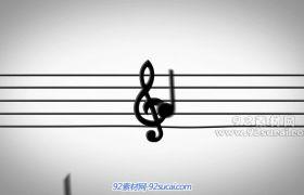 音符五线谱高清视频素材免费下载