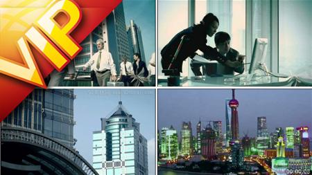 多組商務辦公討論 商務大樓外景 上海城市俯瞰夜景高清實拍素材
