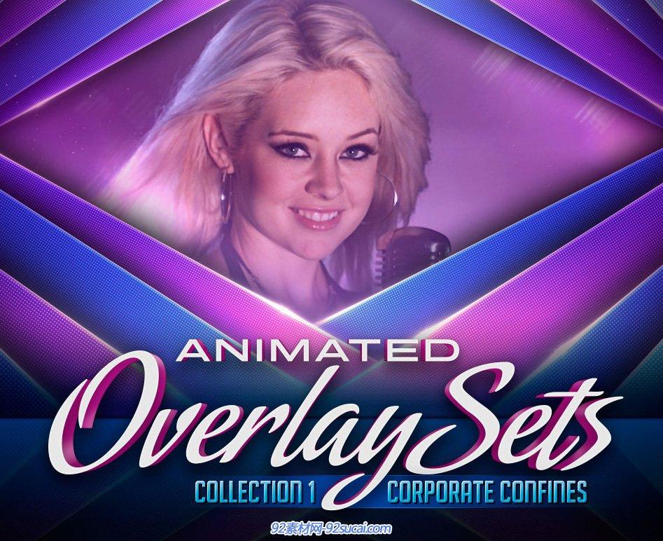 DJ Animated Overlay Sets 1专业宣传电视栏目包装视频素材第一季