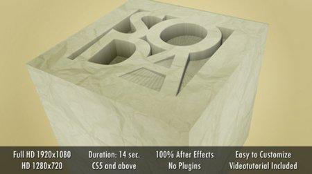 立体图案动画演绎ae模板