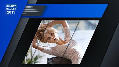 时尚广播杂志多边切换风格动画图文展示AE片头模板 Brodcaster