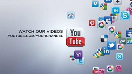 社交网络动画演绎AE模板 Social Network