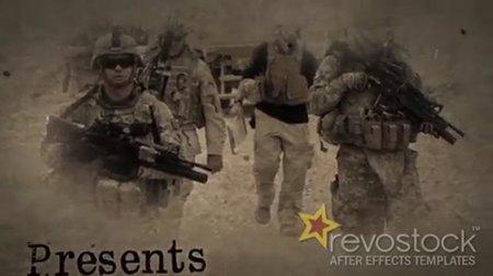 末日战争标题动画AE片头模板 The Last War ti<x>tle