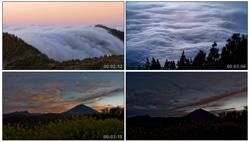 高清延时摄影云海翻滚夜晚星空日落加利福群岛的美丽天空景象实拍