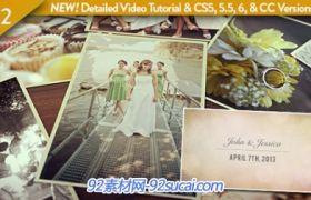 溫馨的桌面婚禮婚慶電子相冊AE模板 Wedding Photos Slideshow