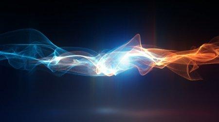流動的粒子光線線條特效LOGO標志展示AE模板 Go With The Flow