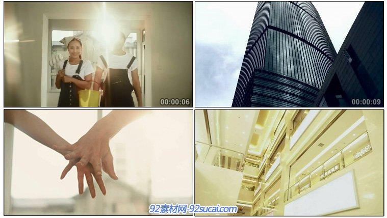 餐飲娛樂 商務大樓內部結構仰拍 大樓外觀 牽手十指緊扣特寫高清