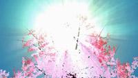 唯美浪漫的桃花朵朵开 高清LED舞台背景动态视频素材