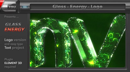 玻璃能量LOGO动画AE模板 Glass Energy Logo