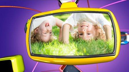 儿童类节目栏目包装AE模板 Fly TV