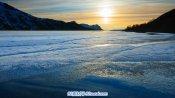 延时摄影-挪威北部自然风光风景 天空湖面雪山水上日落高清实拍
