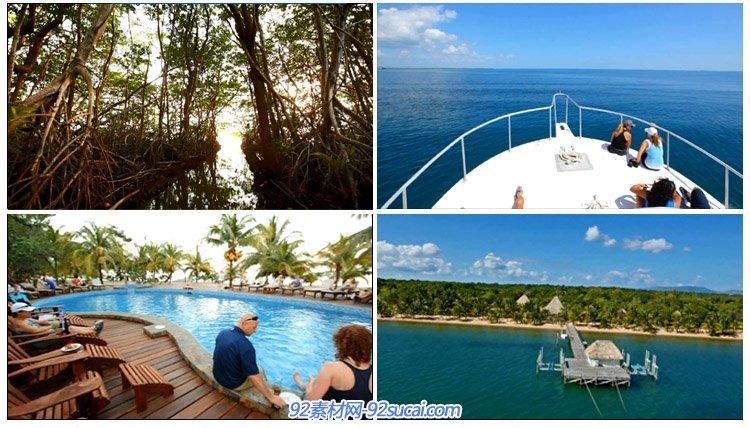 国外海边休闲旅游度假专题篇 唯美风景风光高清实拍 海上娱乐乘船