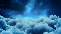 幽暗天空的云 梦幻繁星满天的夜晚 动态视频背景素材
