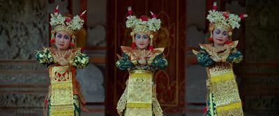 巴厘岛塔利贡舞小舞蹈演员跳舞传统舞蹈Legong Dance黎弓舞欣赏