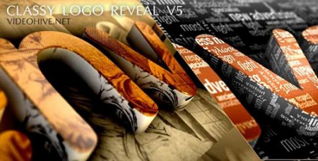 经典震撼LOGO演绎模板 Classy Logo Reveal V5