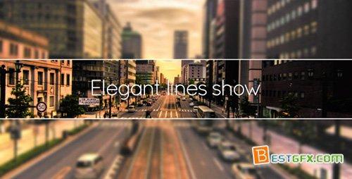 优雅线条展示AE模板 Elegant Lines Show