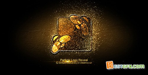简单粒子特效AE模板 Particle Logo Reveal