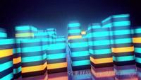 无限循环的立方体运动动画 动感背景视频