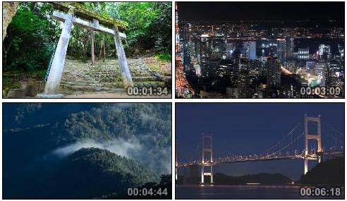 唯美延时摄影-日本城市航拍 交通人物车流 高山风光风景 海洋大桥