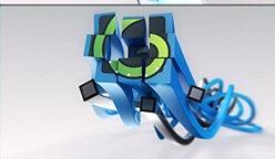 三维光线标志粒子 3D Lines Logo Reveal