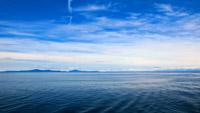 3段全高清蔚蓝色的大海 碧海蓝天梦幻的景象海水波澜 背景视频