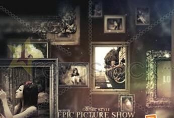 史诗风格相片展示AE模板 Epic Picture Show
