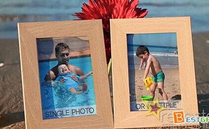 美好沙滩回忆电子相册AE模板 BEACH MEMORIES