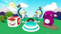 儿童卡通游乐土 平面动感 六一儿童节舞台静态配景视频素材