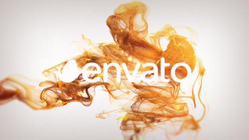 唯美优雅金色粒子标志AE素材 elegant-gold-particles-logo-revea