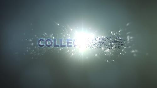 碎片聚集标志展示AE模板-collect-logo