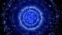 蓝色回旋粒子时间隧道 视频背景素材