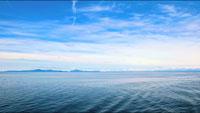 4K超高清实拍 蓝色的海洋 安静的大海海面与蓝天相映
