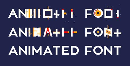 字体动画AE模板 Animated Font