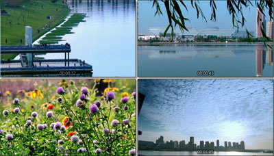 陜西西安城市宣傳片 航拍城市風光生態公園綠色城市建筑高樓風貌