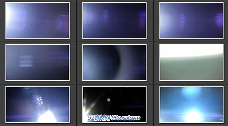 9组 Real Anamorphic Flares vol.2 真实电影镜头炫耀光斑特效视