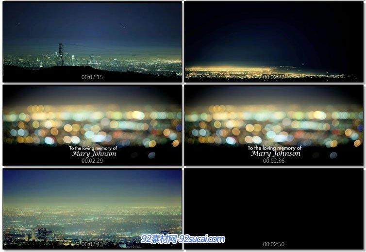 实拍素材 城市企业宣传 > 延时摄影-洛杉矶城市灯光夜景 夜晚俯瞰城市