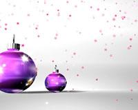 白背景紫色球球转动 ?#22836;仔切?#39128;落动画 圣诞节日动态视频 标清